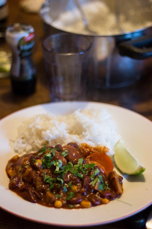 recette chili sin carne vegane sans viande