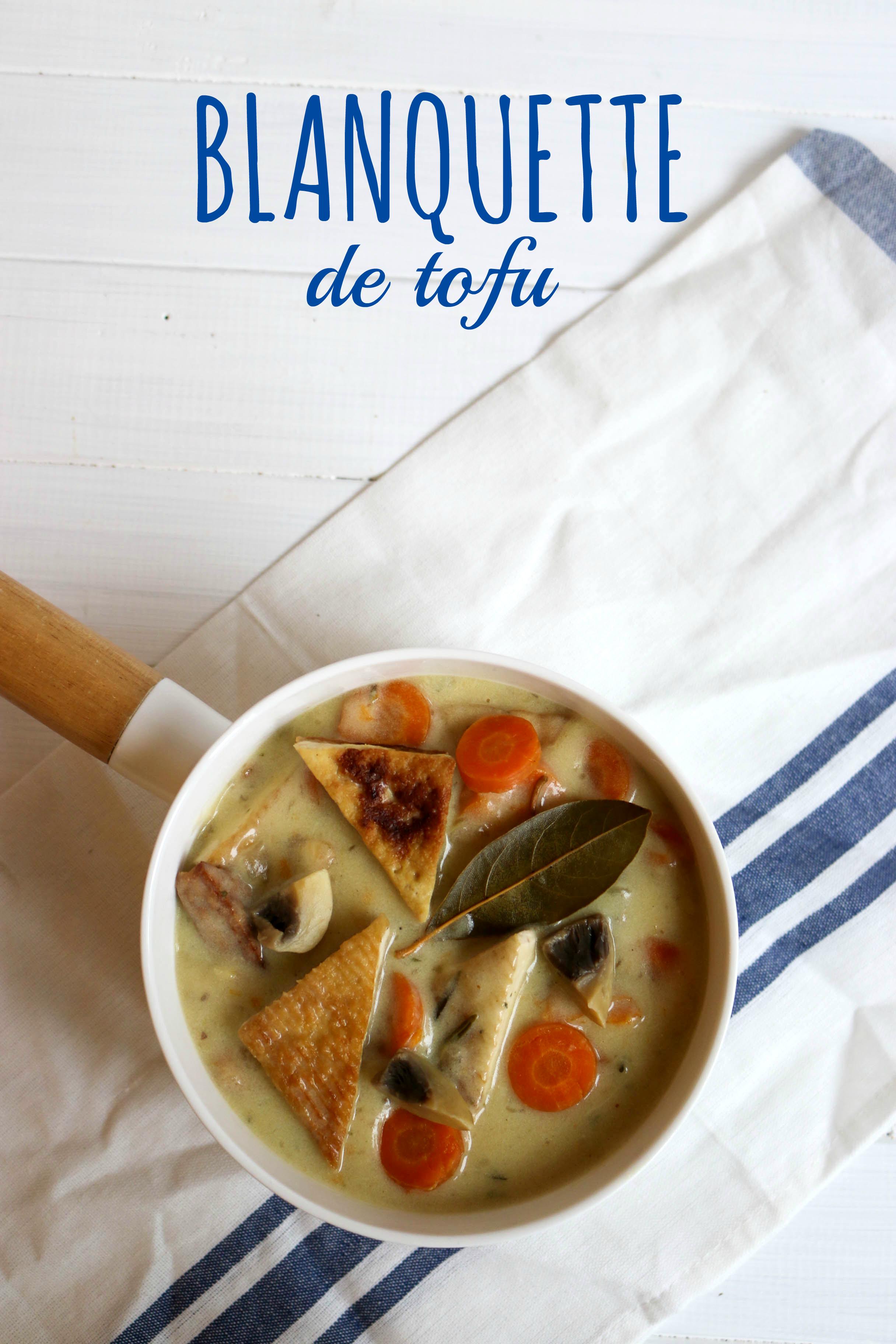 blanquette de tofu - recette végétalienne, vegan