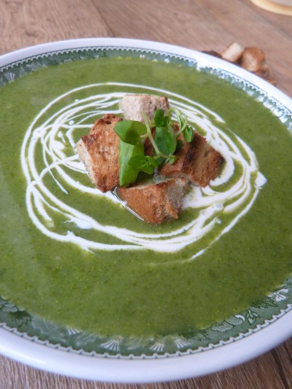 recette soupe de cresson vegan