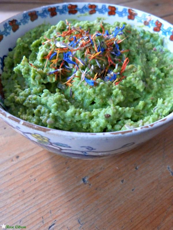 recette tartinade petits pois vegan