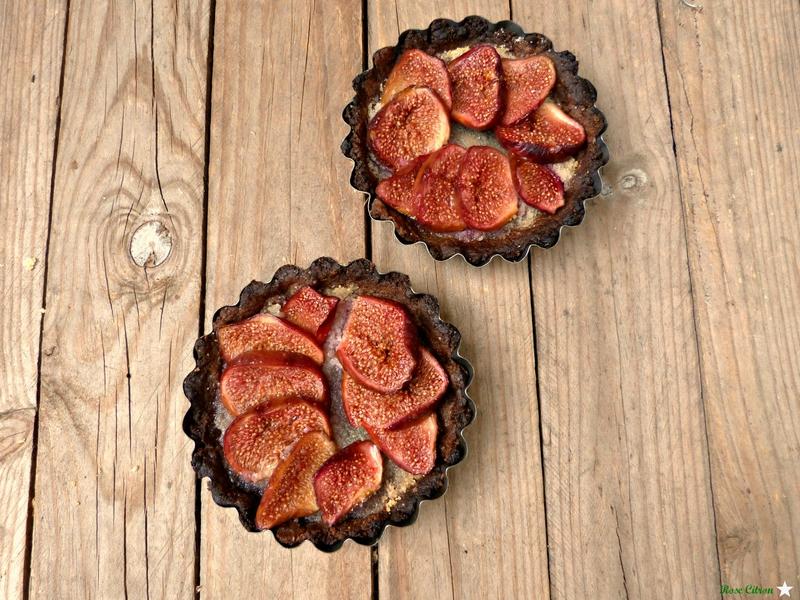 recette tarte figue noix vegan sans gluten