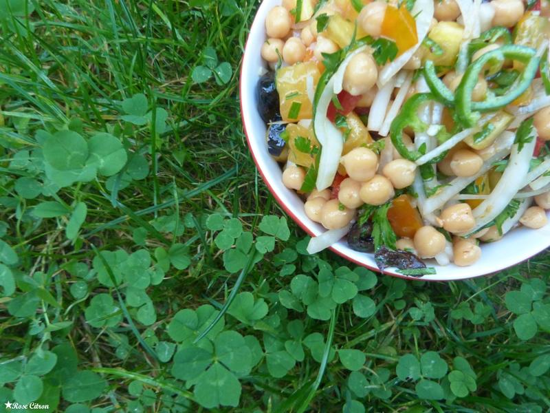 recette salade pois chiche vegan