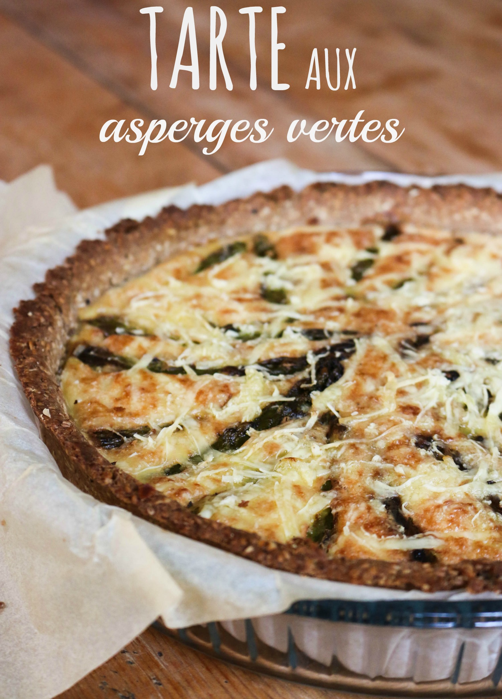 tarte aux asperges vertes végane