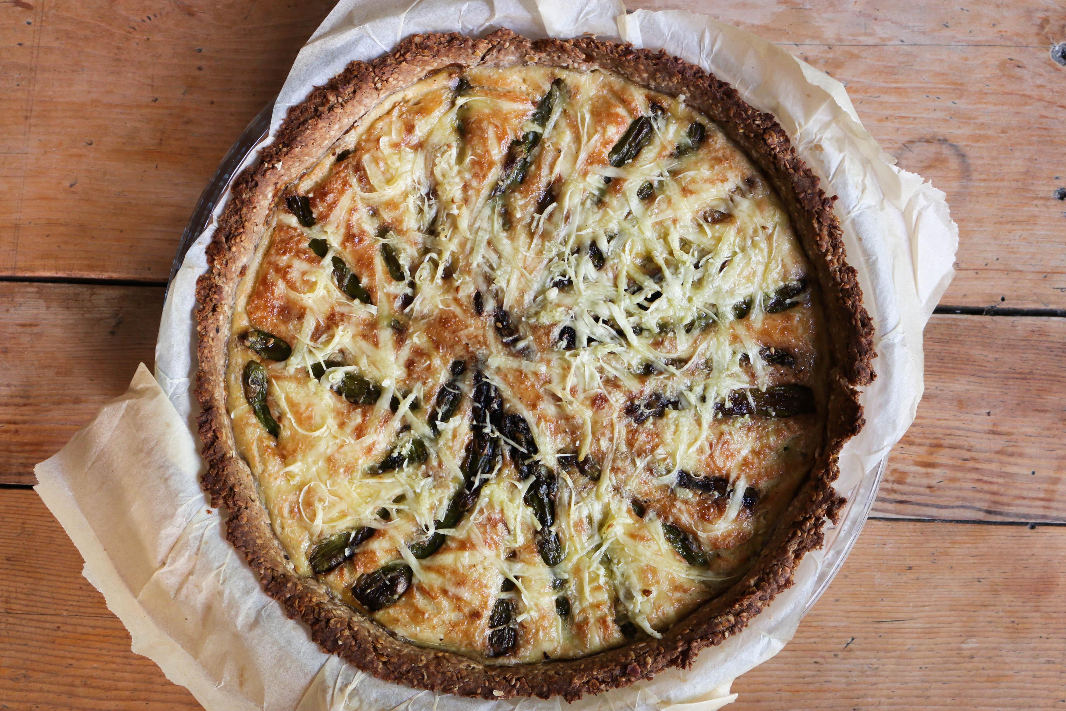 tartes aux asperges vertes vegan