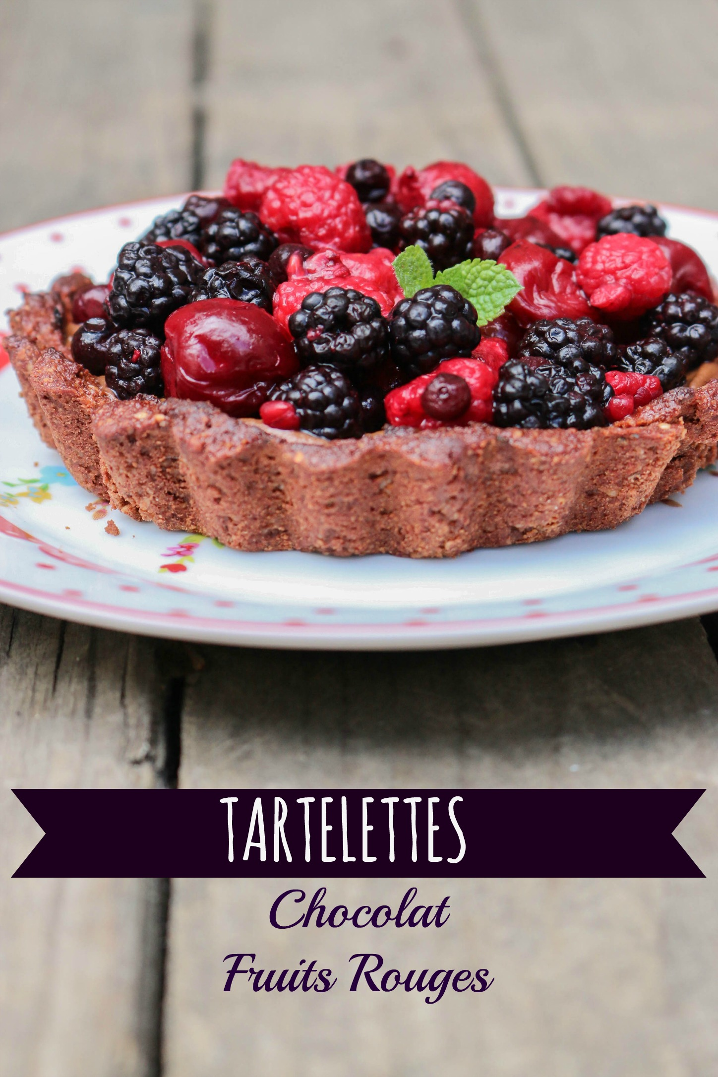 tartelettes chocolat fruits rouges - ganache avocat - végane