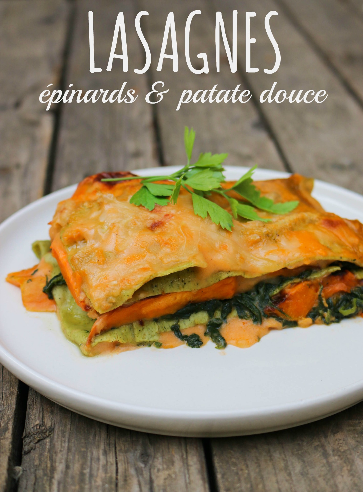 lasagnes épinards patate douce vegan