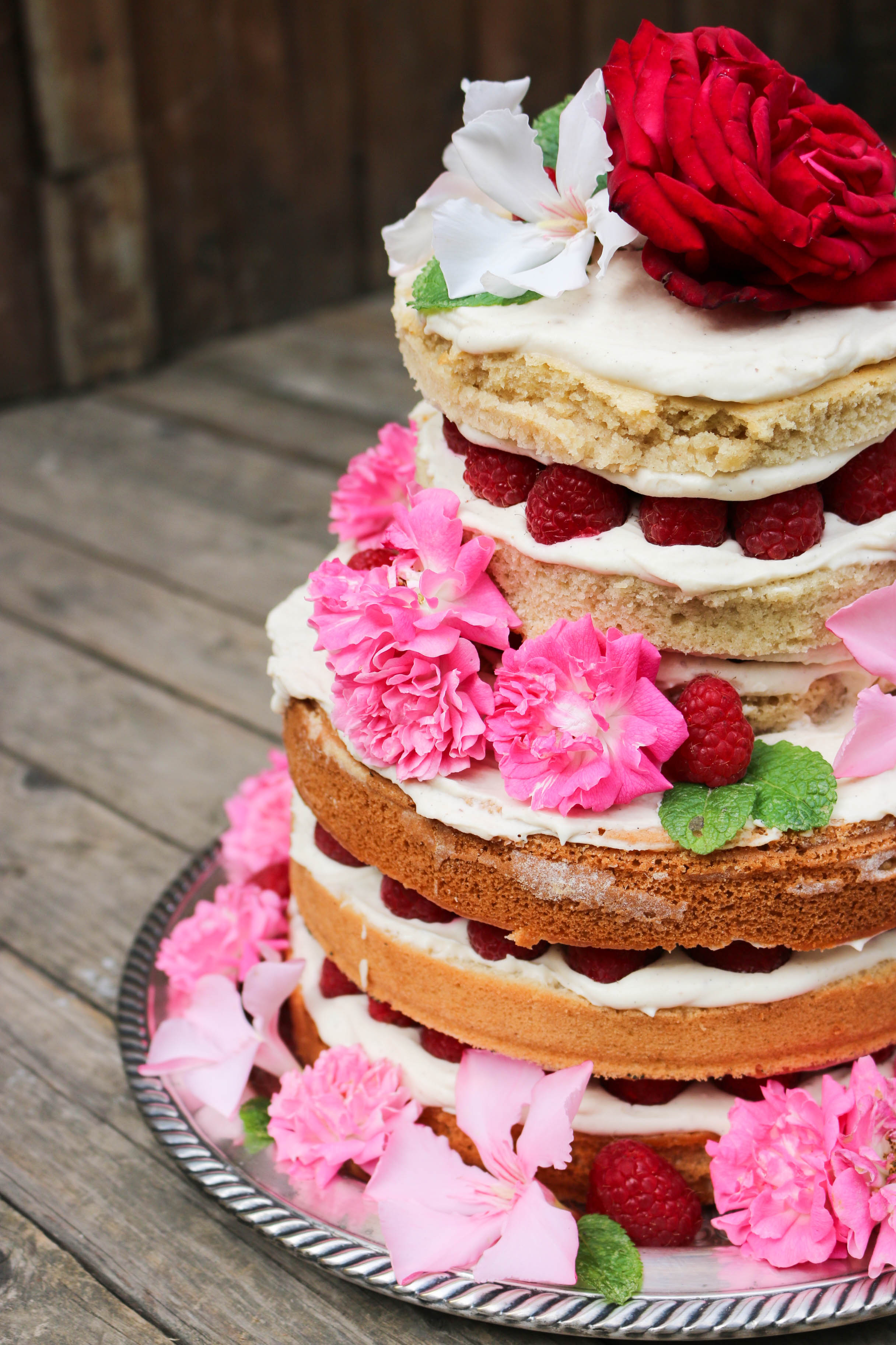 layer cake vanille framboise vegan