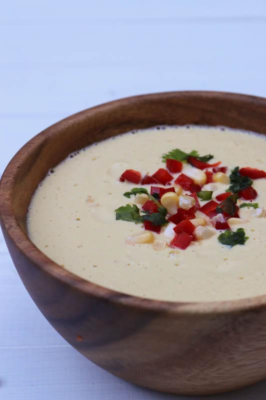 soupe maïs cru