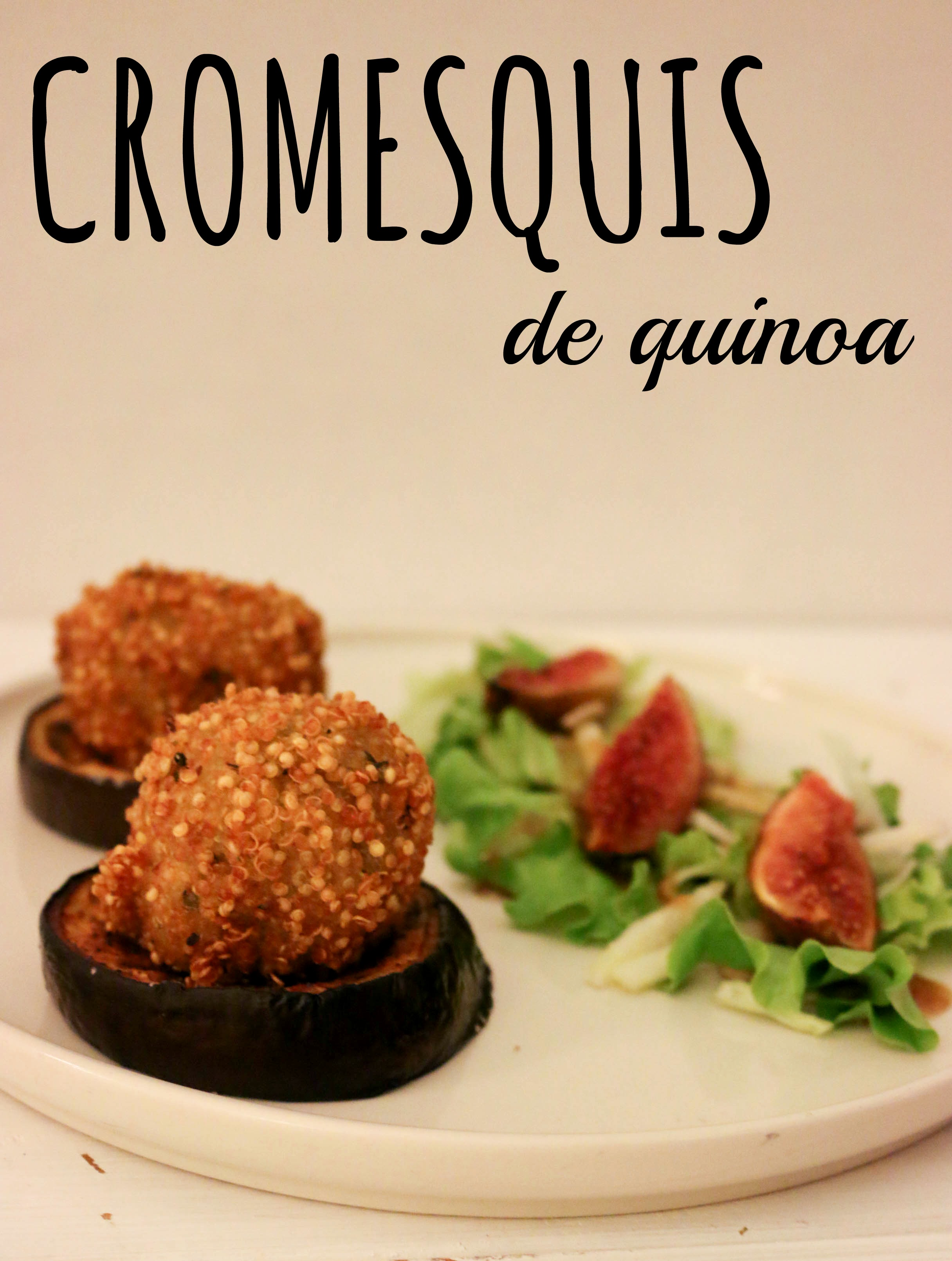 cromesquis de quinoa. recette végétale (vegan) et sans gluten