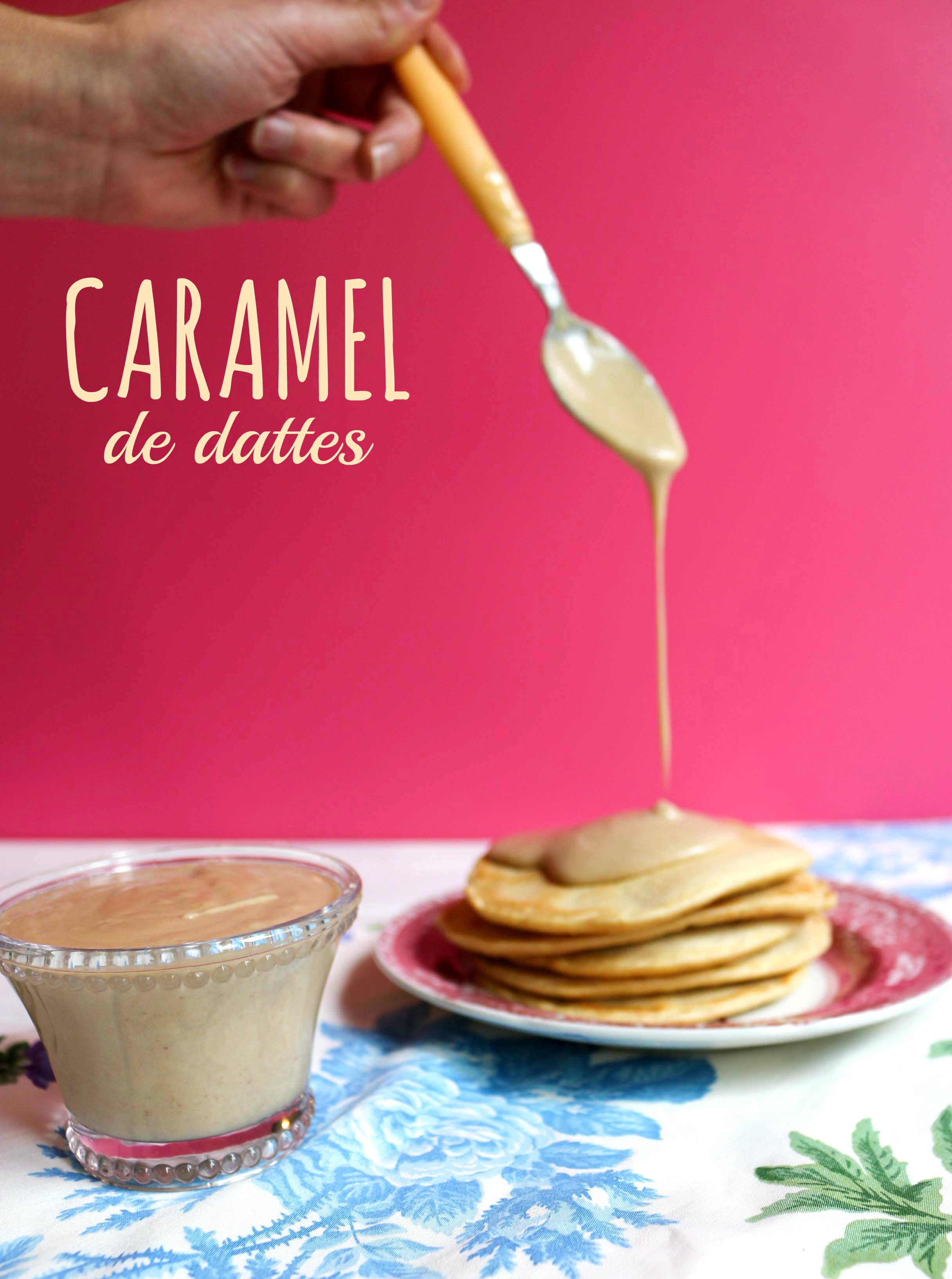recette caramel de dattes cru et végane