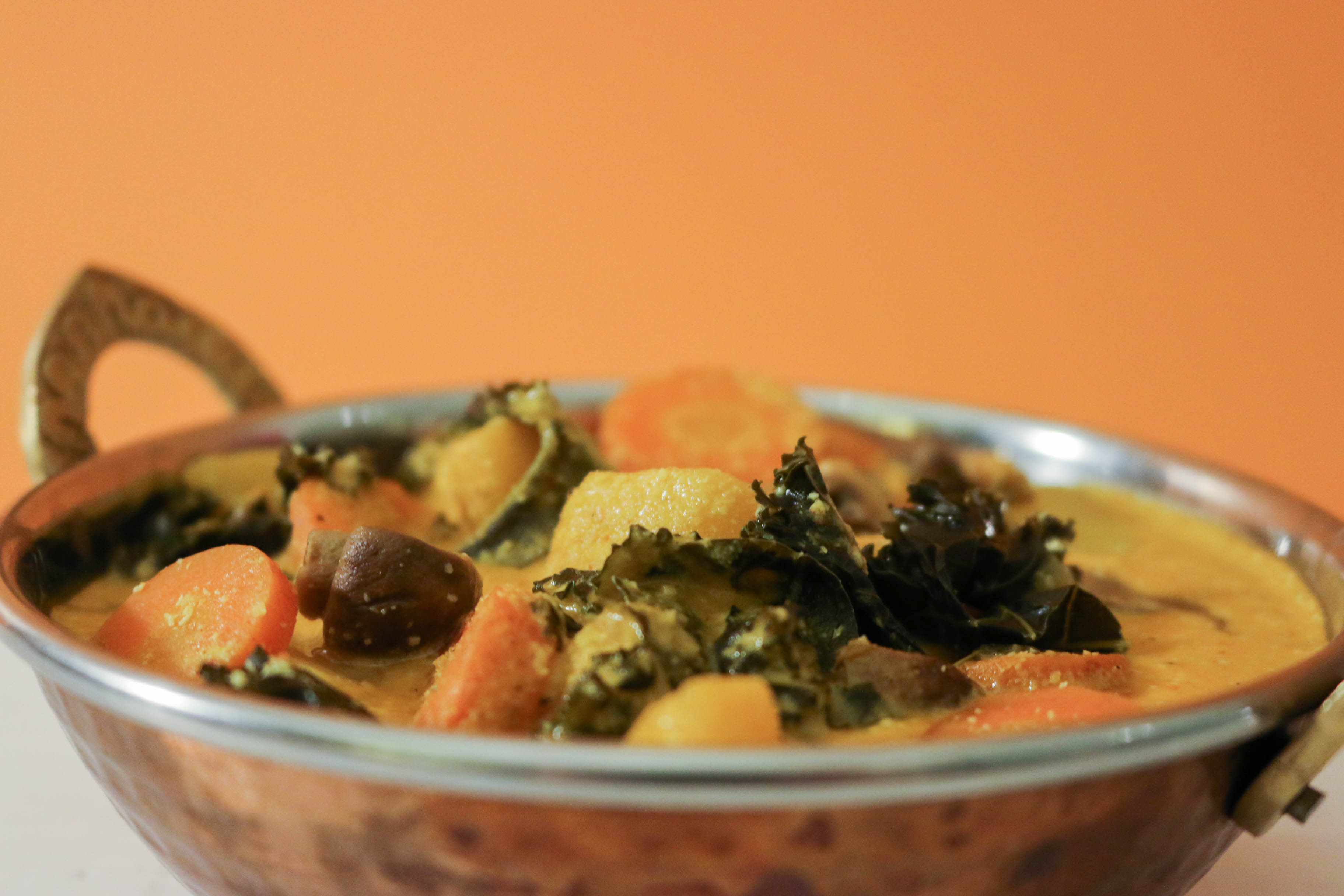 recette indienne légumes korma végane