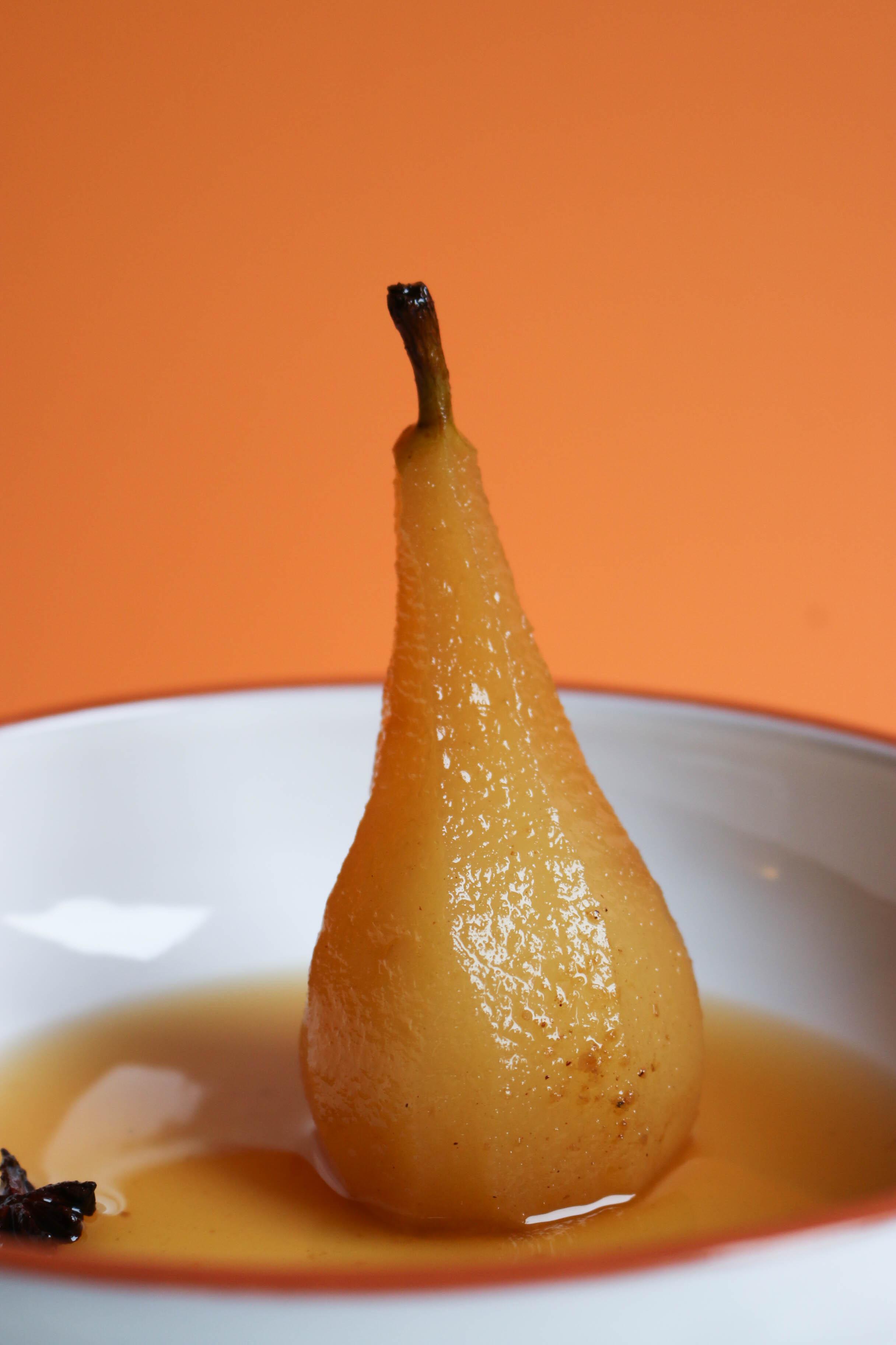 recette poire pochée