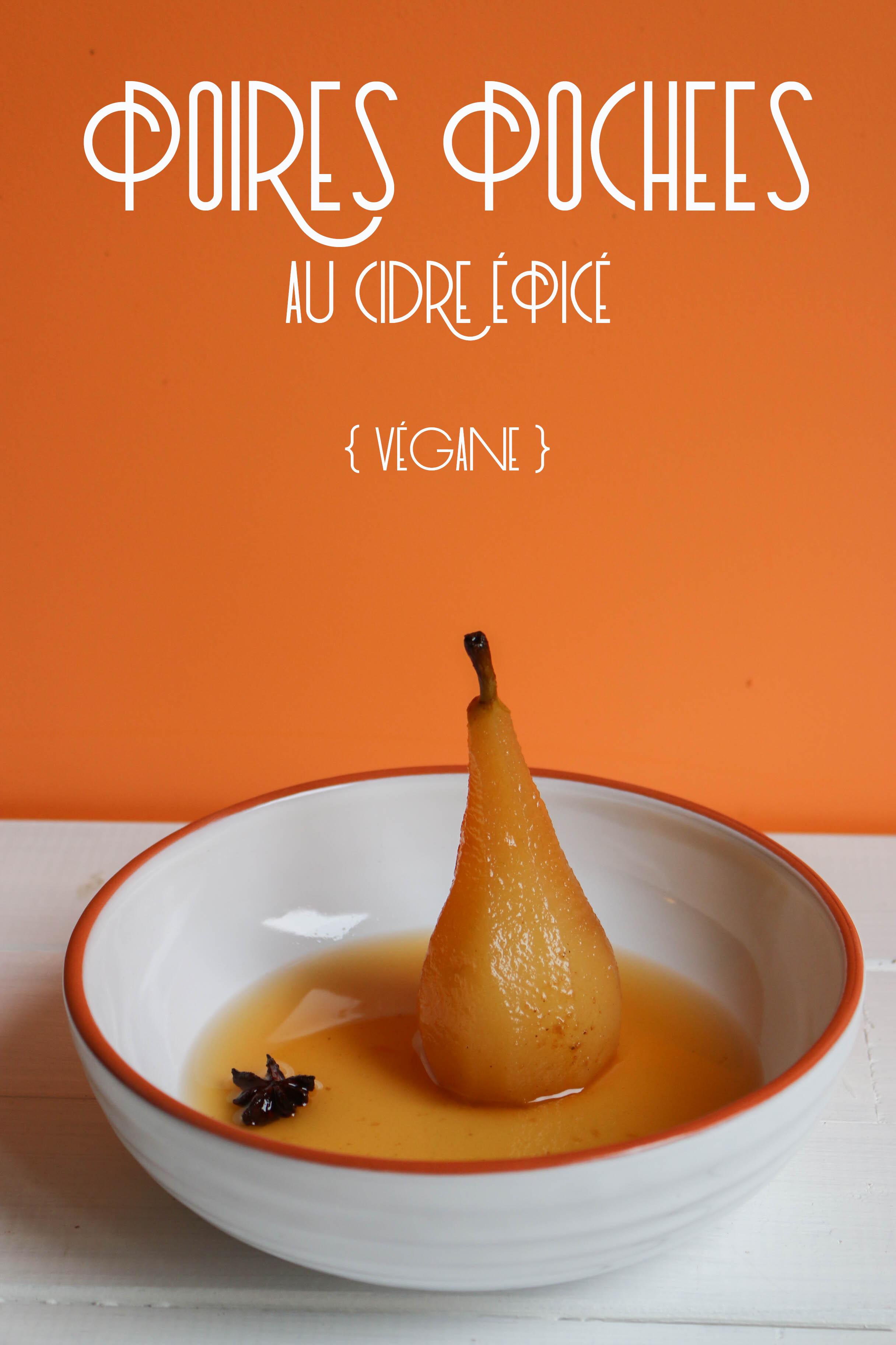 recette poire pochée au cidre épicé