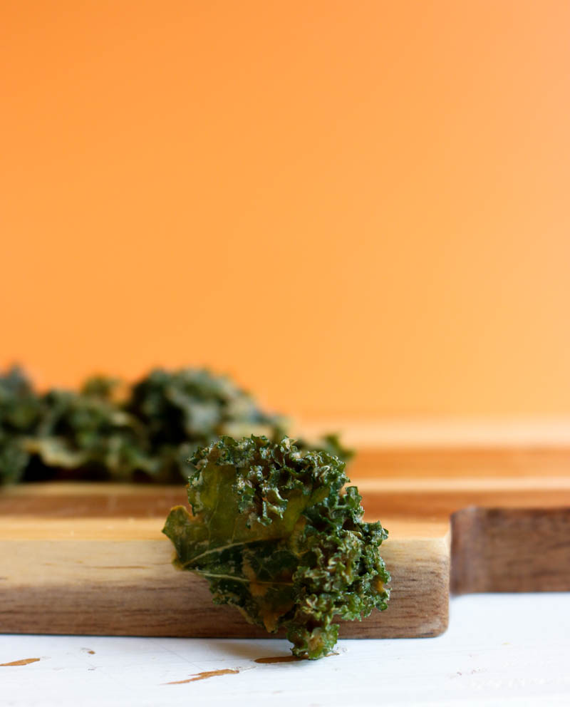 recette chips de kale vegan cheese and garlic : goût formage et ail