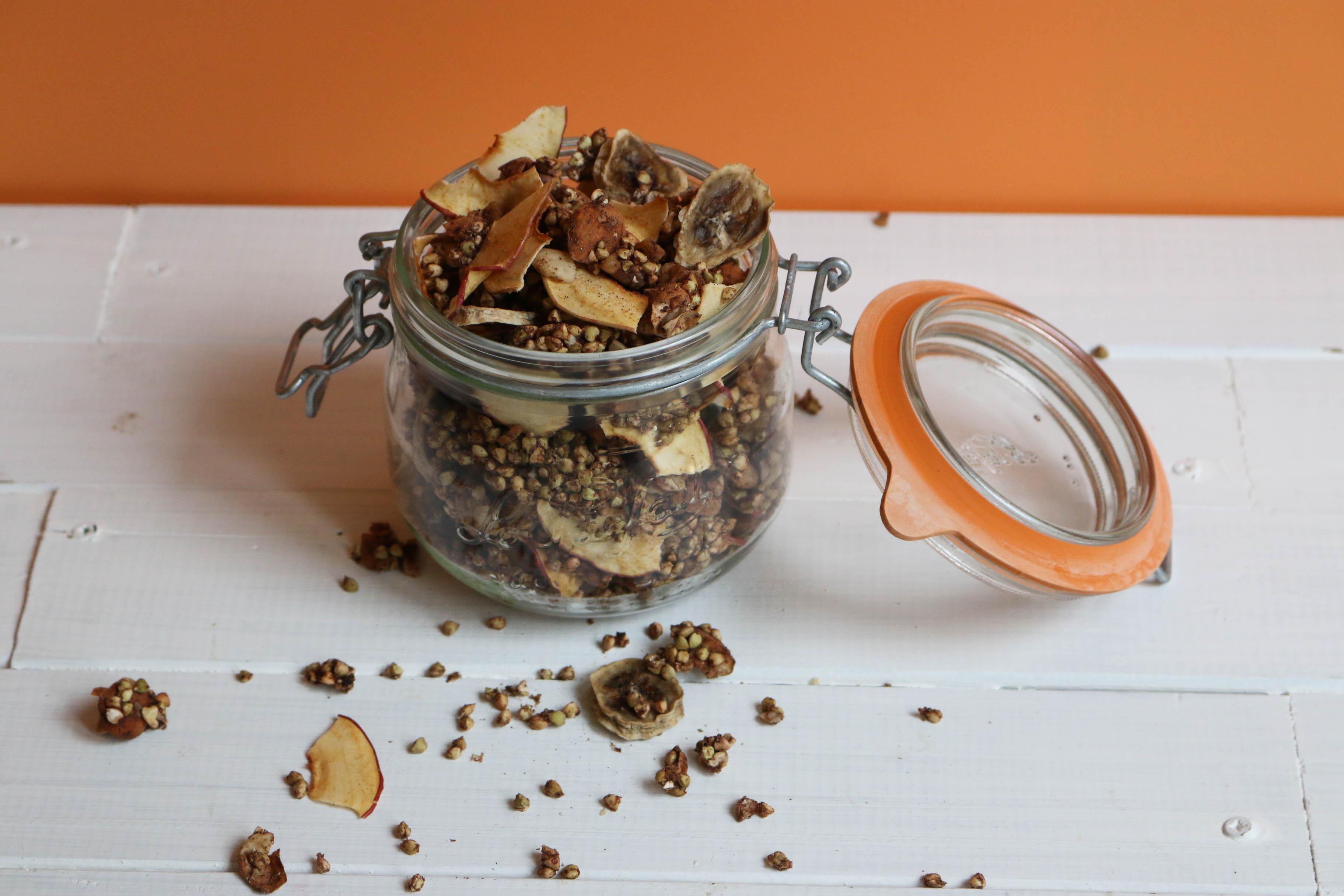 recette de granola cru au deshydrateur (+astuces pour le faire au four)