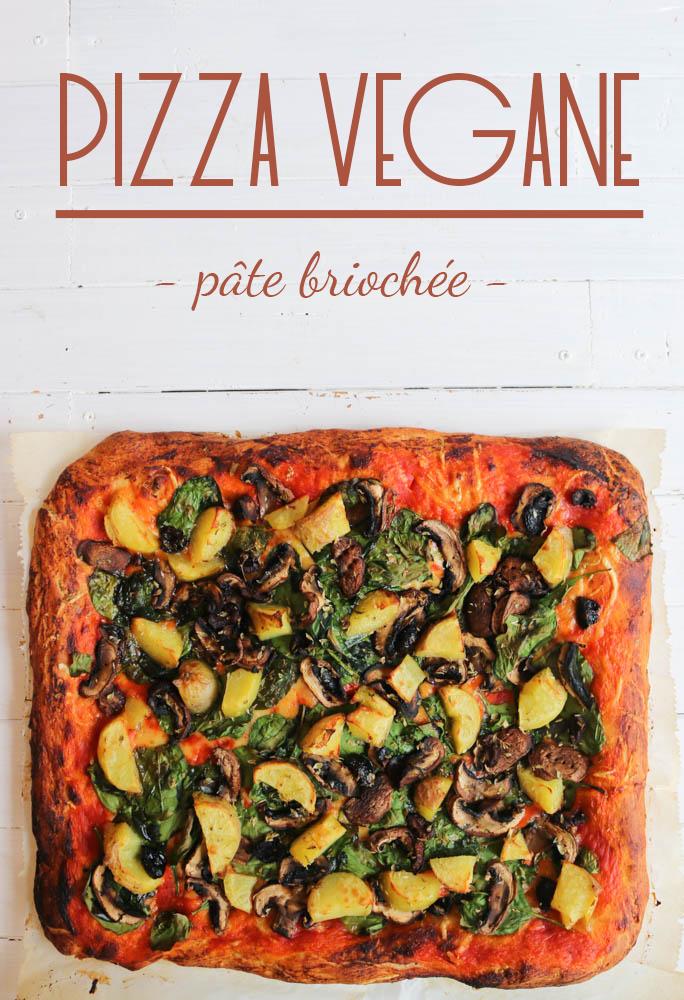 recette pizza végane pâte briochée