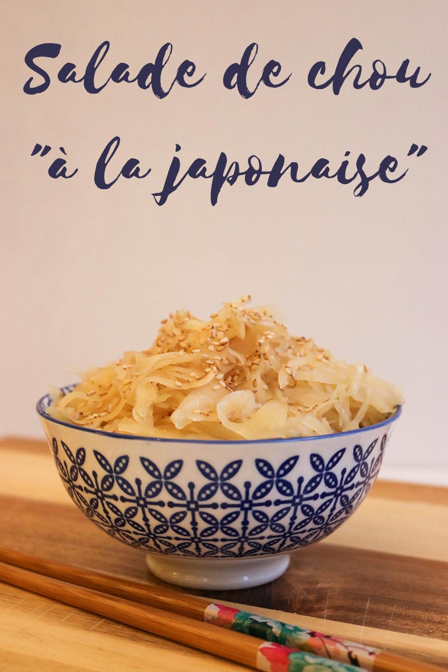 recette de salade de chou à la japonaise - vegan