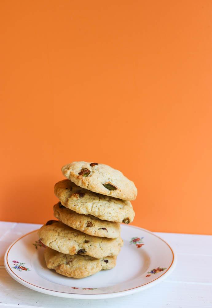 recette cookies véganes au citron et à la pistache