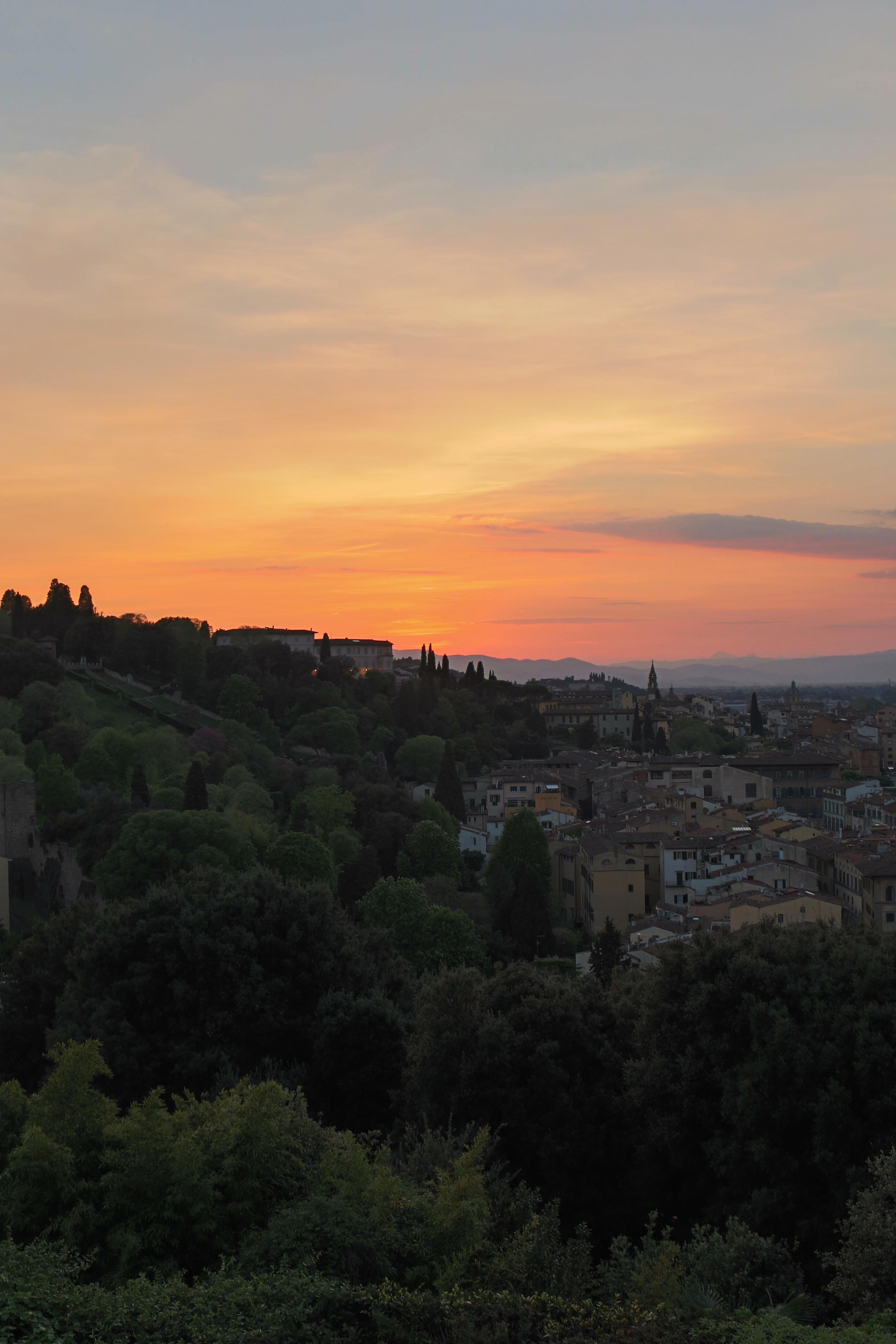voyage à Florence : piazzale Michelangelo