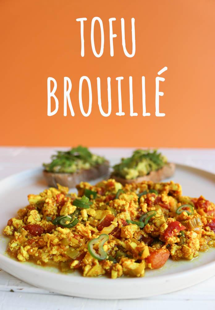 recette du tofu brouillé vegan brunch