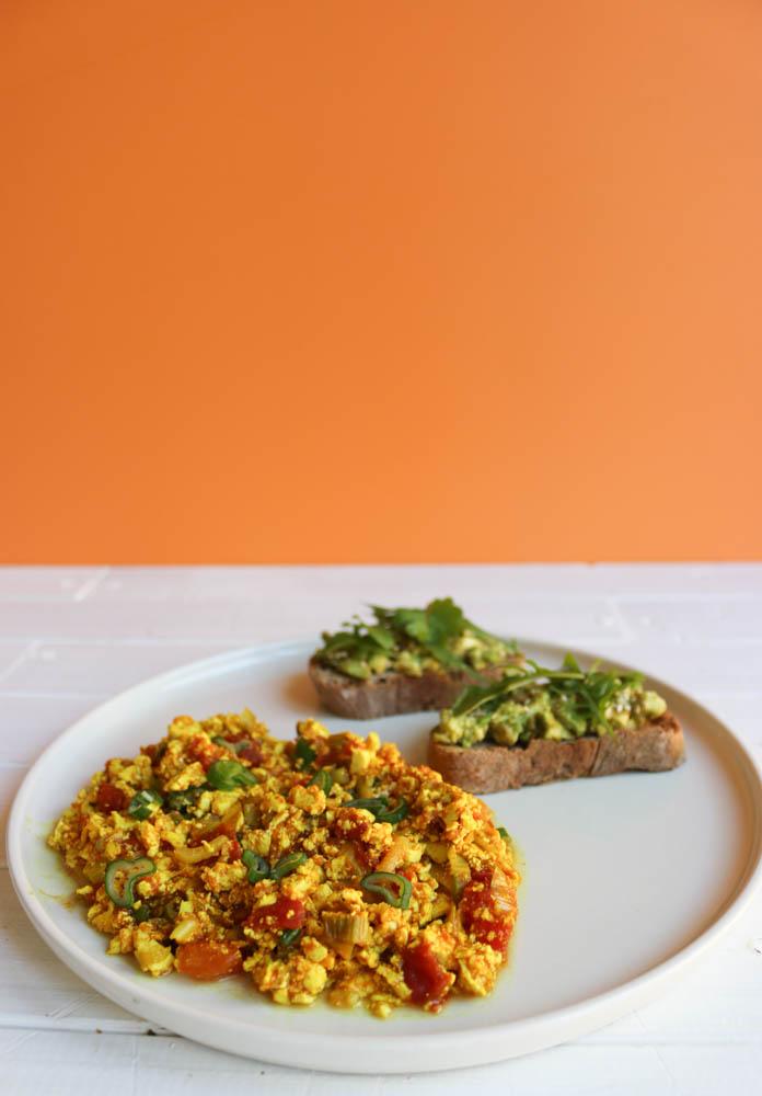 Recette tofu brouillé - brunch vegan