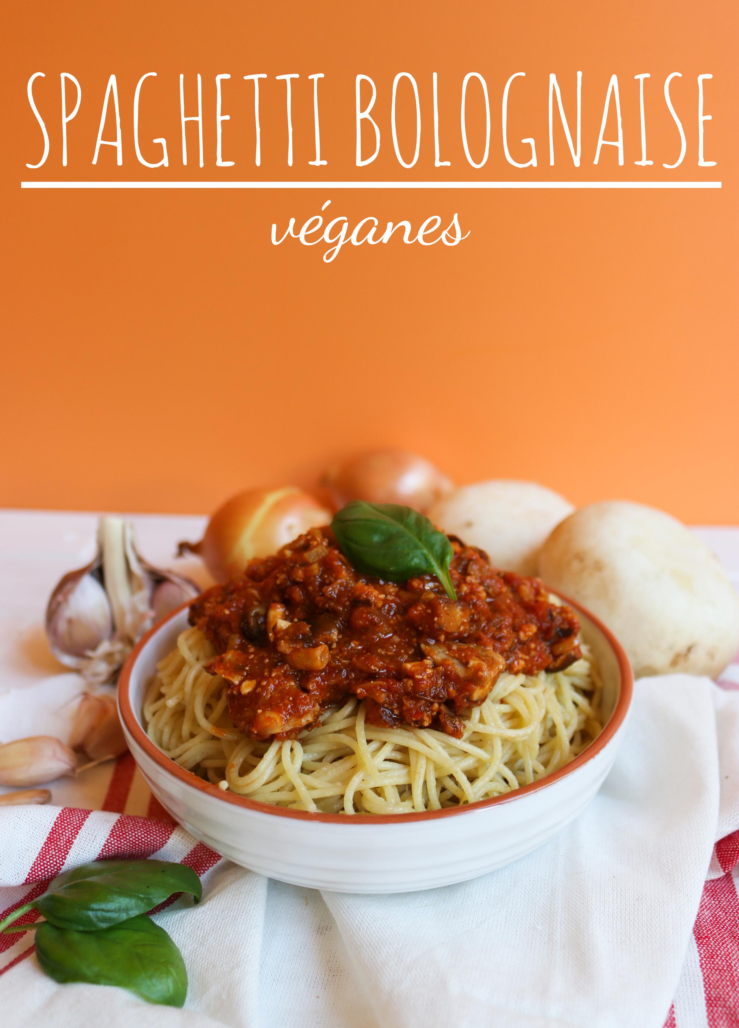 spaghetti bolognaise végane au tofu rosso