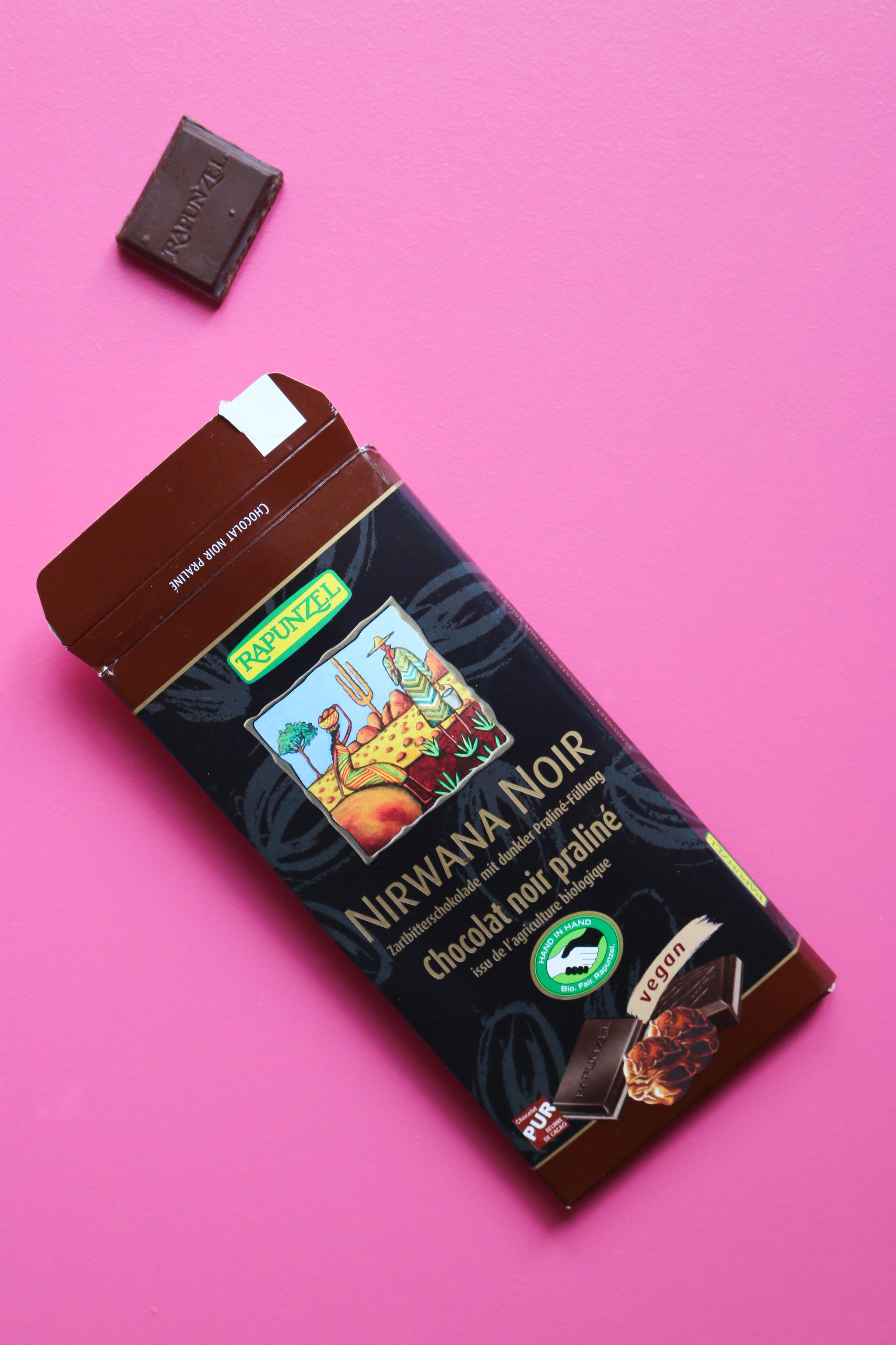 chocolat nirwana vegan rapunzel