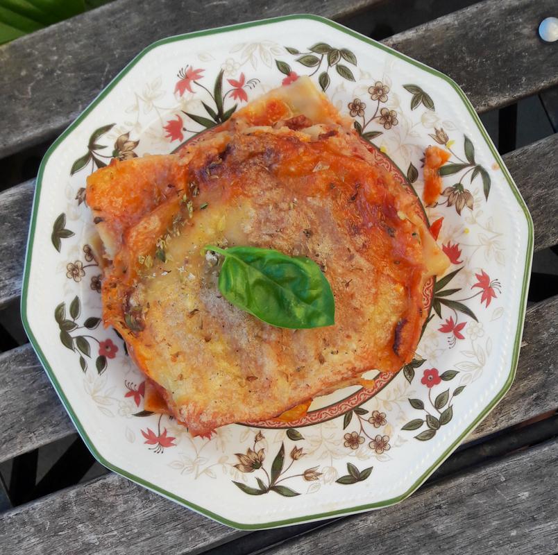 lasagne vegan aubergine courgette