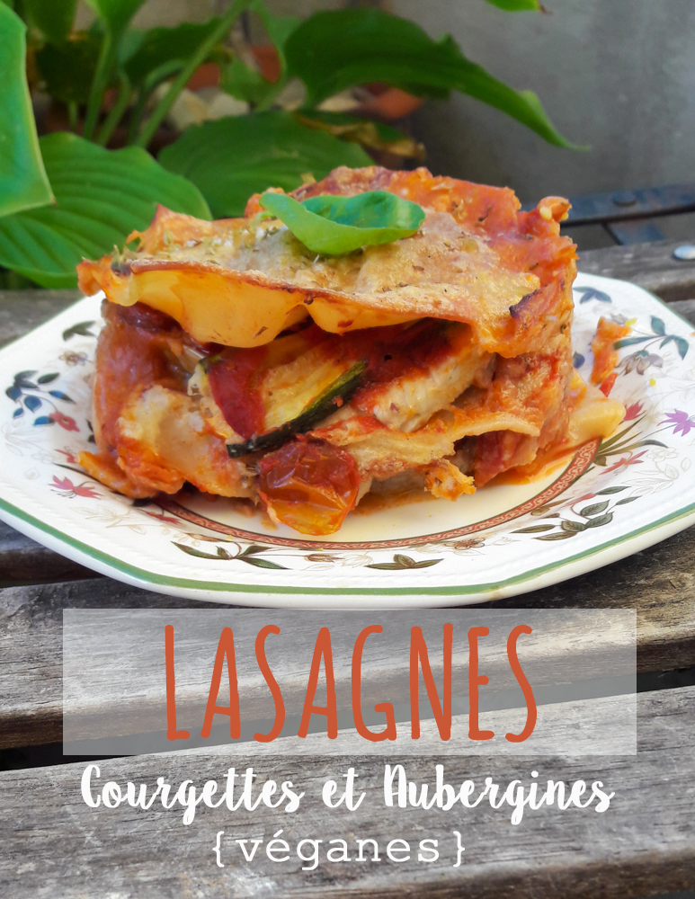 lasagnes vegan aubergine courgette