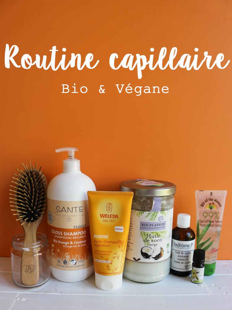 routine capillaire bio et végane