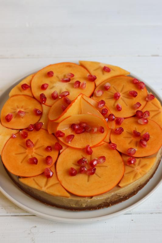 recette entemets façon cheesecake vegan au kaki