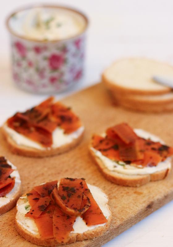 recette de saumon fumé vegan à base de carottes