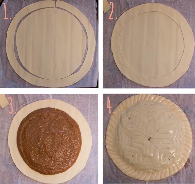 préparation galette des rois frangipane vegane