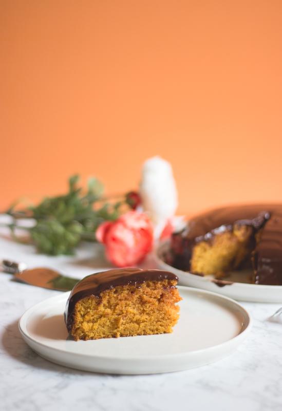recette de gâteau à la courge butternut vegan