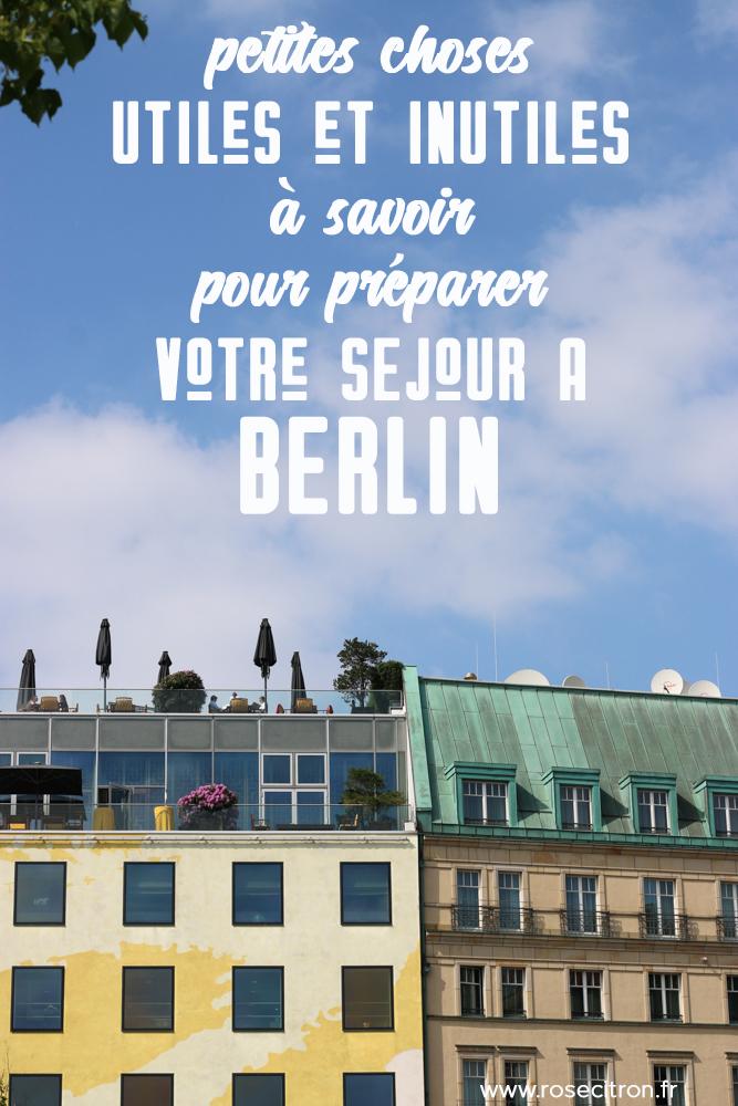 préparer son séjour à Berlin