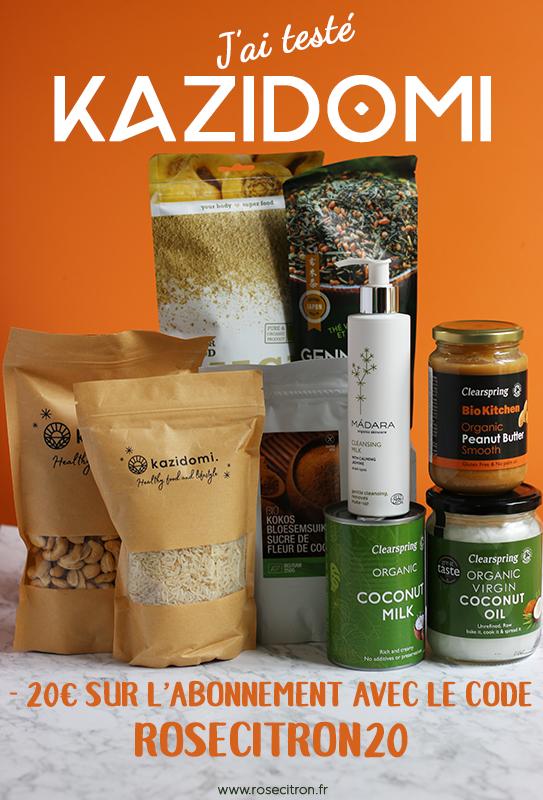 j'ai testé kazidomi : réductions permanentes sur produits bio véganes, sans gluten