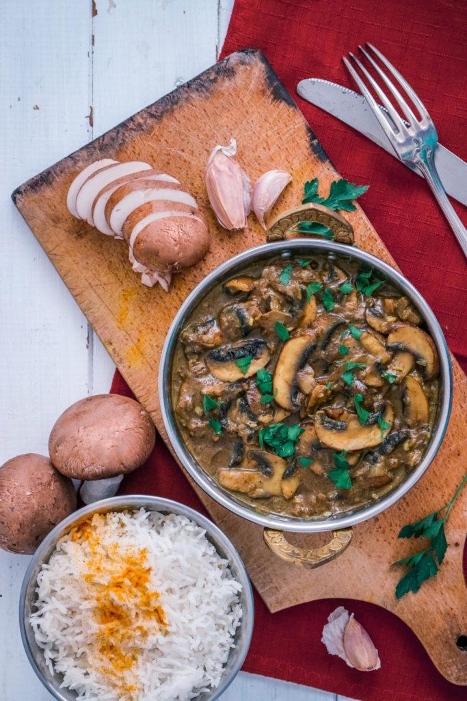 recette curry indien champignon vegan