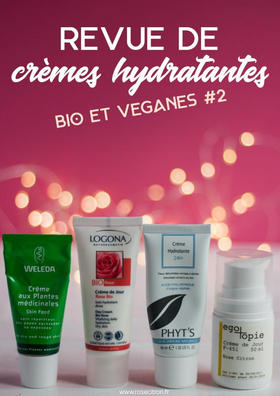 avis crèmes bio veganes