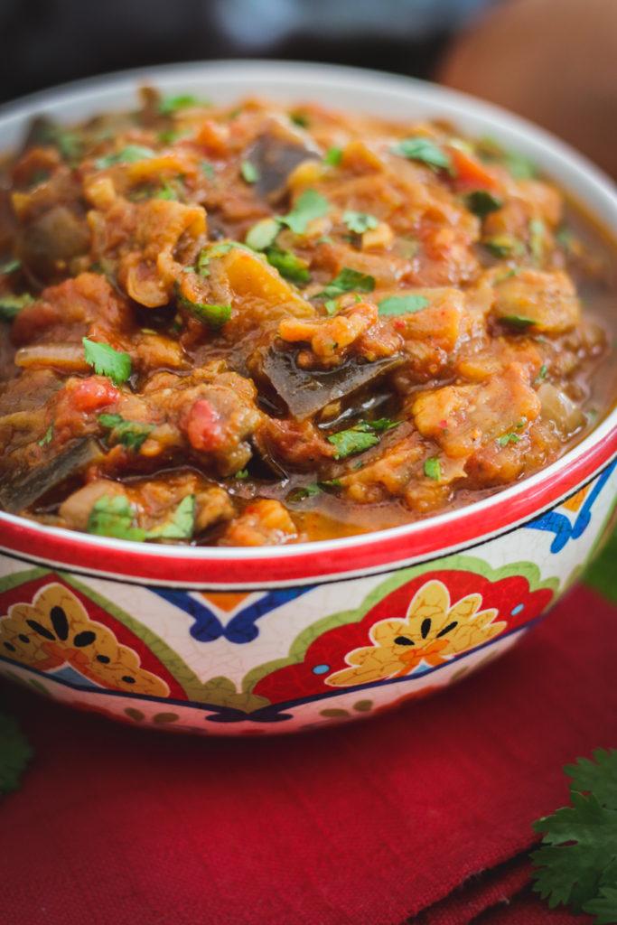 zaalouk salade d'aubergine à la marocaine