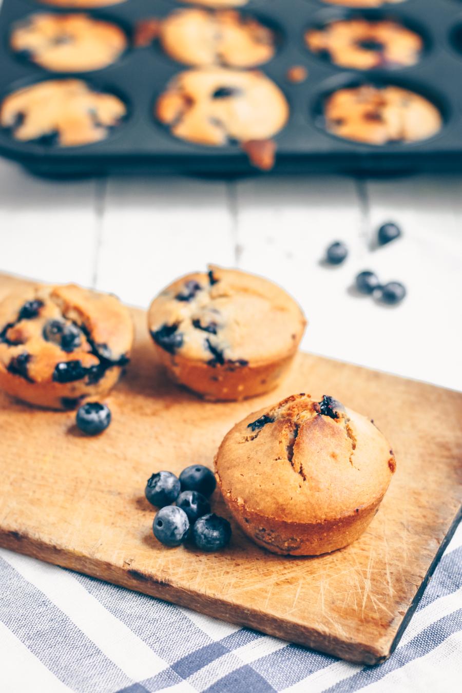 recette muffins myrtilles vegan