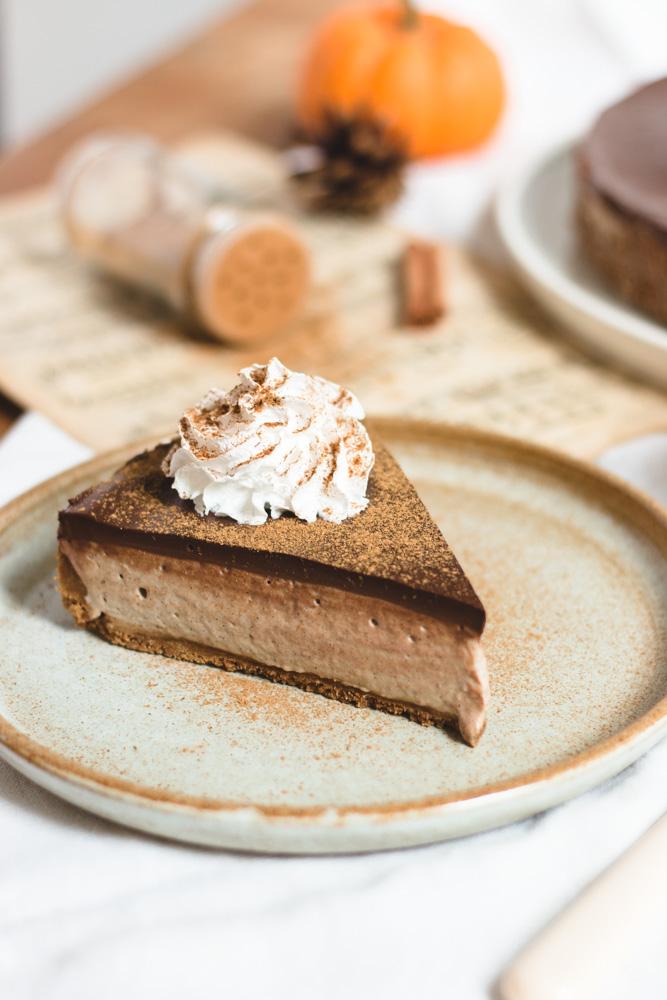 cheesecake vegan tchaï chocolat