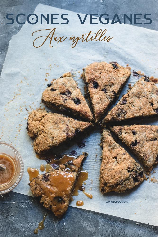 recette scones vegan aux myrtilles