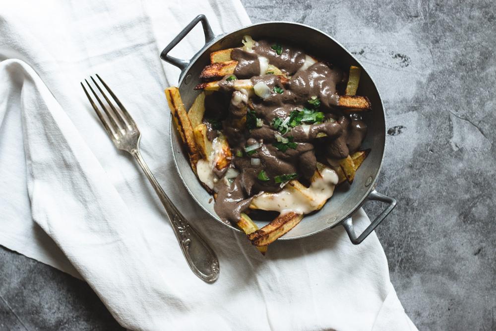 recette de sauce poutine vegan aux champignons