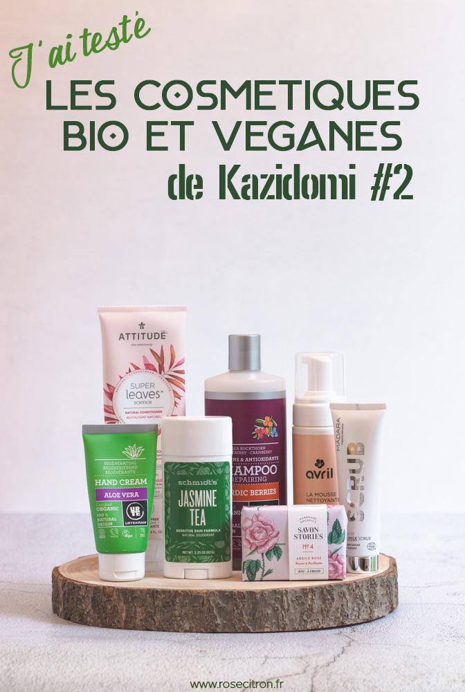avis cosmétiques kazidomi bio vegan