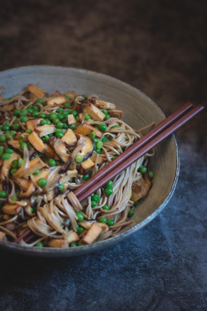 nouilles soba shitake tofu sauce cremeuse vegan-4