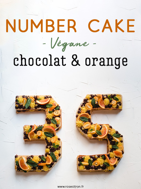 number cake vegane chocolat orange