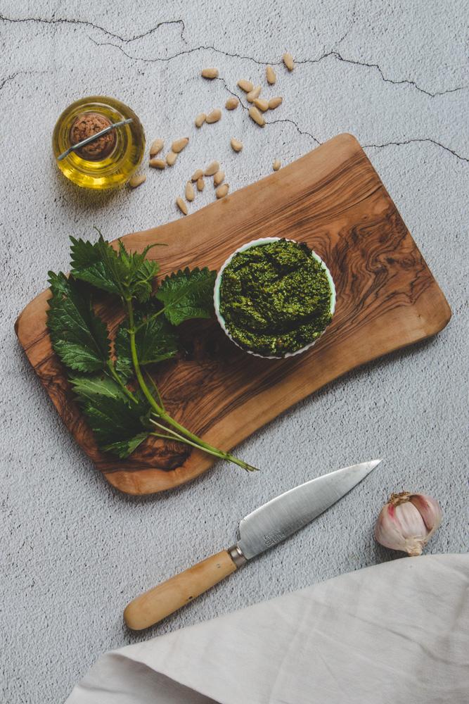 recette pesto orties vegan