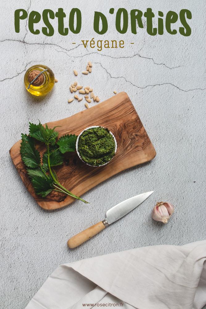 recette pesto orties vegane