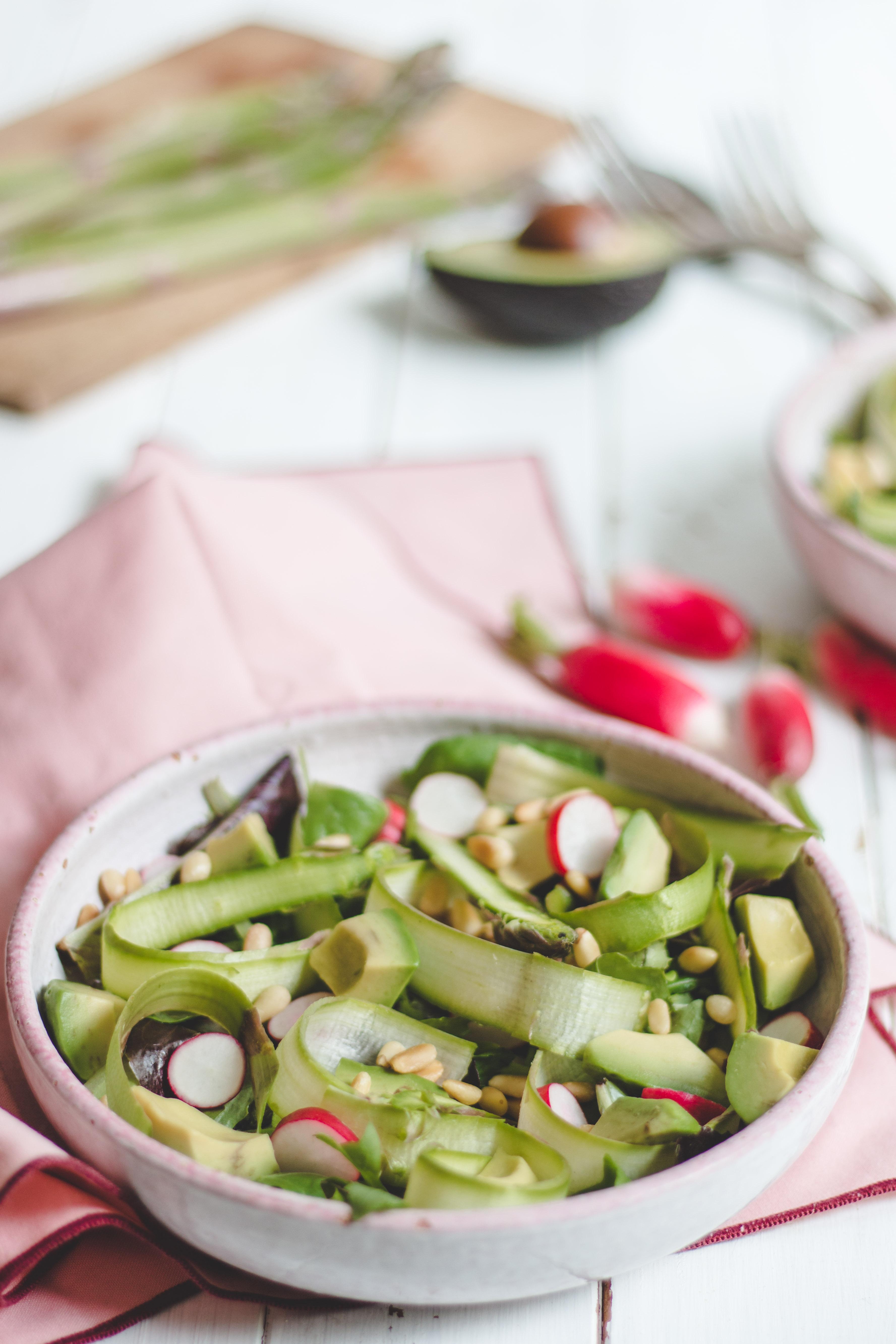 salade asperges crues