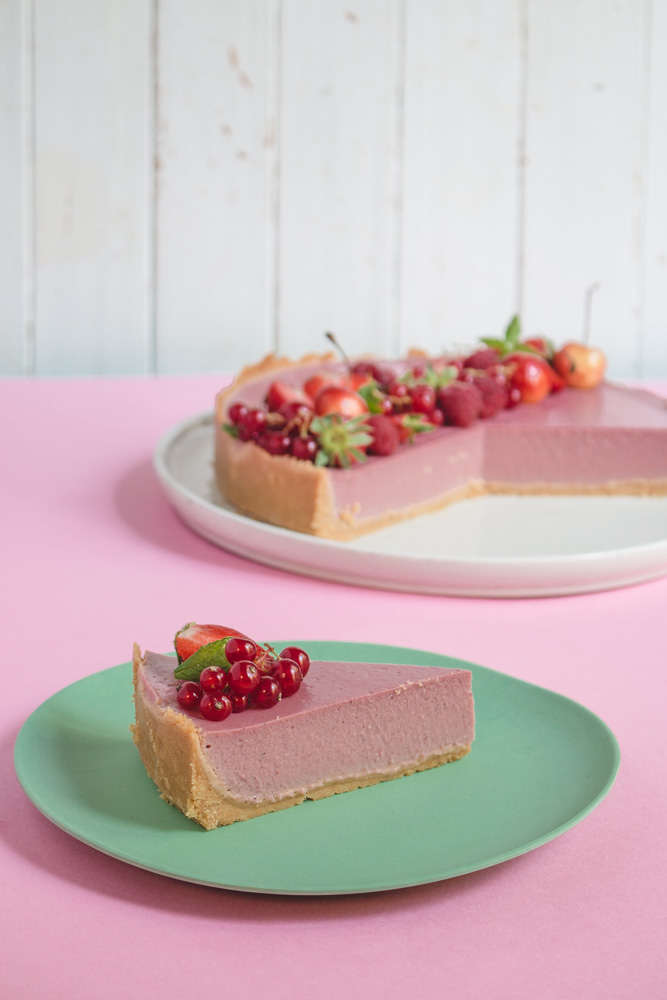 cheesecake vegan fraise fruits rouges recette